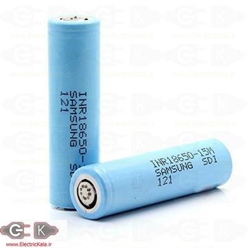 باتری لیتیومی آیون سامسونگ  samsung INR18650 15m