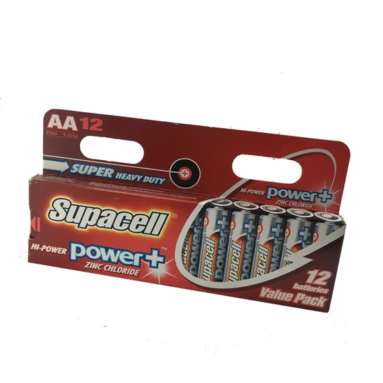 باتری Supacell Power Plus AA -12 Packs