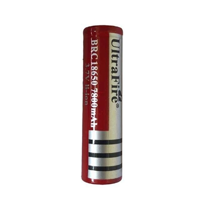 باتری قابل شارژ اولترافایر 7800 میلی آمپر لیتیومی آیون 18650 ultrafire
