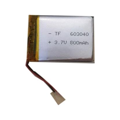 باتری لیتیوم پلیمر 3.7 ولت 800mah سایز 603040