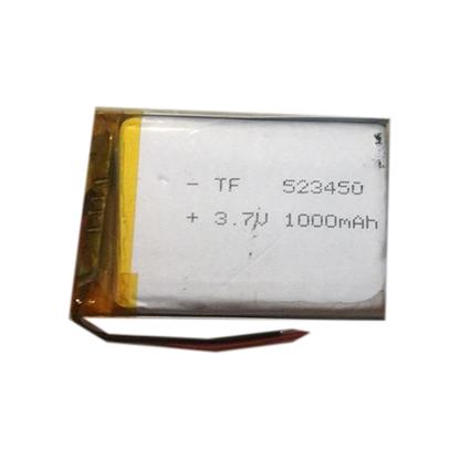 باتری لیتیوم پلیمر 3.7 ولت 1000mah سایز 523450