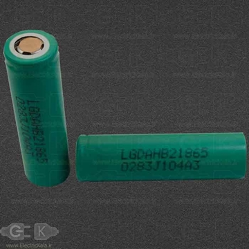 تصویر باتری شارژی لیتیومی آیون Rechargeable battery LG 18650