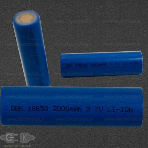 تصویر باتری لیتیومی یون دی بی کی  DBK 18650