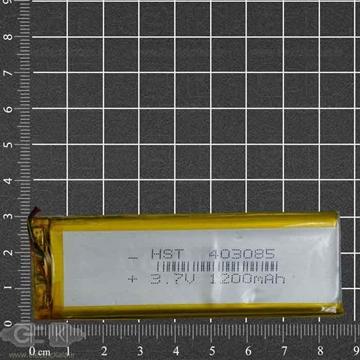 تصویر باتری لیتیوم پلیمر 3.7 ولت 1200mah بلند