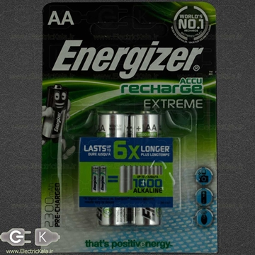 تصویر باتری شارژی قلمی انرژایزر 2300 میلی آمپر AA واقعی