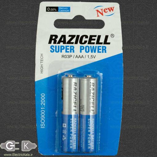 تصویر باتری نیم قلمی معمولی   AAA razi cell