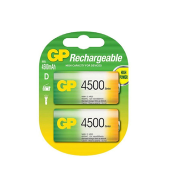 باتری قابل شارژ سایز D جی پی مدل GP4500 بسته 2 عددی
