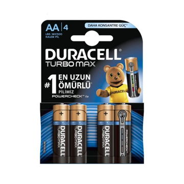 باتری قلمی دوراسل مدل Turbo Max Duralock With Power Check بسته 4 عددی
