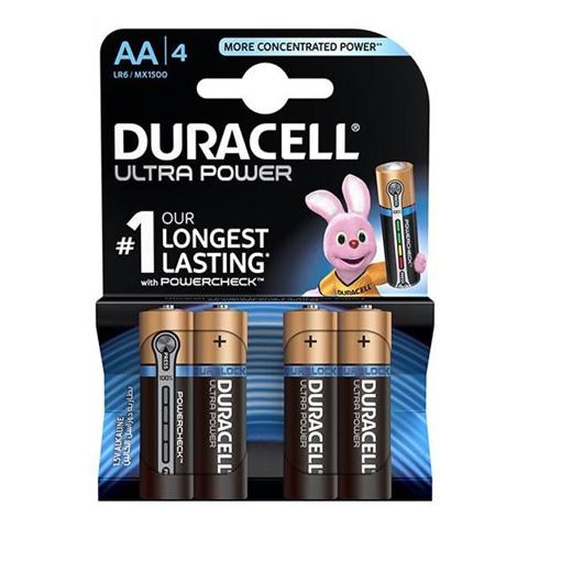 باتری قلمی دوراسل مدل Ultra Power Duralock With Power Check بسته 4 عددی