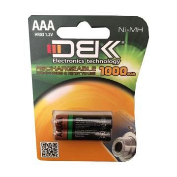 باتری نیم قلمی دی بی کی مدل HR03 بسته 2 عددی