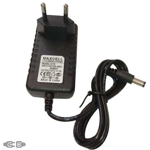 شارژر باتری لیتیومی 21 ولت 1 آمپر مکسل مدل 2110